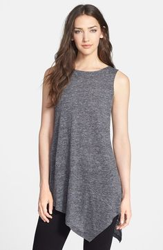 Eileen Fisher Sleeveless Organic Linen Tunic available at #Nordstrom