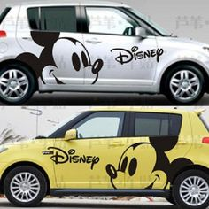 Trendy First Cars Accessories Girls Mickey Mouse Ideas Gif Disney, Disney Cars, Disney Fun, Disney Stuff, Body Stickers, Car Stickers, Car Decals, Mickey Mouse Car, Mickey Mouse And Friends