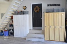 Good ideas for organizing a garage.