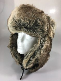 6ca3b23baad H M Unisex One Size Ushanka Faux Fur Brown Bomber Trapper Hat