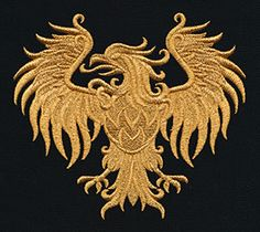 Gilded Heraldry - Eagle | Urban Threads: Unique and Awesome Embroidery Designs