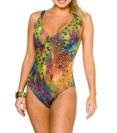 Kiniki Tan Through Thru Swimwear Amalfi Support Top Swimsuit Size 6-20