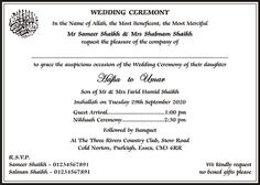 muslim wedding cards wordings islamic wedding invitations wordings