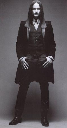 the tailored Goth Gothic People, Gothic Men, Dark Gothic, Gothic Steampunk, Modern Gothic, Dark Beauty, Gothic Beauty, Dark Fashion, Gothic Fashion