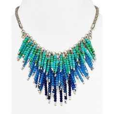 Aqua Pammy Fireworks Necklace, 14 ($40) ❤ liked on Polyvore featuring jewelry, necklaces, aqua jewelry, aqua jewellery and aqua necklace