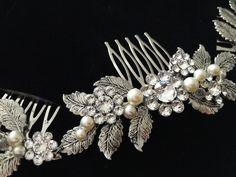 Bodas de plata pelo accesorio hoja vid casco por LuluSplendor