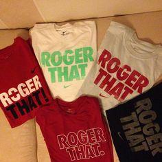 ROGER THAT. #RF #Shirt #Tshirt #T-shirt #tee #nike #niketennis #tennis #rogerfederer #federer #rogerthat