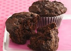 Double-Chocolate Muffins.  Made with fiber one ceral. Sub unsweetened applesauce for oil. Yum and healthy!