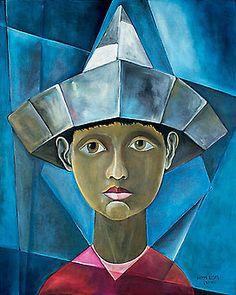 Menino com chapéu, 1988 Harry Elzas (Brasil, 1925-1994) óleo sobre tela, 100 x 80 cm