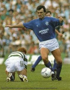 Davie cooper leaves tommy burns in his wake Rangers Football, Rangers Fc, Retro Football, Football Soccer, Orange Order, Old Firm, Bear Face, Football Pictures, Great Team