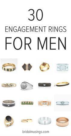 Engagement rings for men | Men's engagement rings | Bridal Musings Wedding Blog