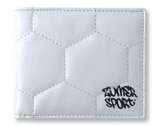 Zumer Sport Soccer Men's Wallet Made From Real Soccer Material #zumersport #soccerwallet #soccer #wallet #menswallet