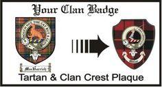 Macvurrich Clan Macpherson Clan Badge Plaque . $29.99