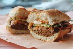 Toronto's Best Sandwiches: the vegan banh mi from Thomas Lavers Banh Mi Sandwich, Best Sandwich, Pickled Carrots, Vegan Restaurants, Fish Sauce, Places To Eat, Ontario, Toronto, Sandwiches