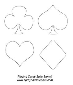 Printable Playing Card Template Beautiful Stencils Listing P S Fète Casino, Casino Party, Casino Theme, Casino Night, Flash Card Template, Card Templates Printable, Playing Card Tattoos, Printable Playing Cards, Alice In Wonderland Party