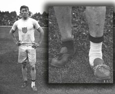 In 1912 Jim Thorpe an American Indian had his running shoes stolen the morning of his Olympic track and field events. He found this mismatched pair of shoes in the garbage and ran in them to win two Olympic gold medals that day. Track And Field Events, Olympic Track And Field, American Indians, Native American, Jim Thorpe, Olympic Gold Medals, Change Your Life, Decathlon, Olympians