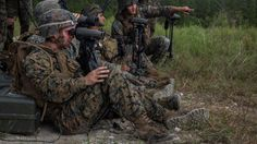 U.S. Marines with Weapons Company, 1st Battalion, 2nd Marine Regiment, observe 81mm mortar targets at a live-fire range at Marine Corps Base Camp Lejeune, N.C., Sept. 29, 2016. With the help of forward observers and coordination tools, the motivated mortar men locked on targets and accurately disbursed rounds down range.