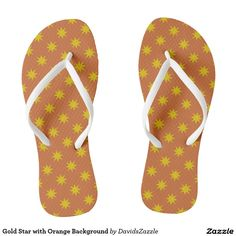Gold Star with Orange Background Flip Flop Sandals Available on many products! Hit the 'available on' tab near the product description to see them all! Thanks for looking!     @zazzle #art #star #pattern #shop #chic #modern #style #fun #neat #cool #buy #sale #shopping #men #women #sweet #awesome #look #accent #fashion #clothes #apparel #accessories #accessory #shoes #sandals #flip #flops #high #tops #low #slip-on #navy #blue #gold #black #purple #orange #grey #gray