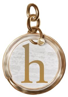 Alphabets Lindos: Alphabet letters in PNG golden pendants