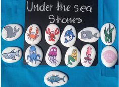 Under the Sea Story Stones by FoxAndBearResources on Etsy