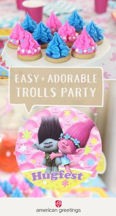 It couldn't be easier to celebrate your little girl's birthday than with this easy and adorable Trolls-themed party! From colorful decorations and supplies from Target to these cute dessert treats, your daughter's celebration will come together in no time.