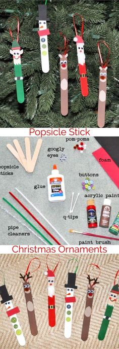 Easy Christmas Crafts for Kids to Make - DIY Christmas Tree ornaments - great teacher gift idea too.