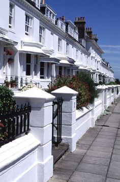 Clifton terrace, Brighton, one of the loveliest streets. You can see the sea from the top floors and there is a private park across the road. Brighton Rock, Brighton Sussex, Brighton England, Brighton And Hove, East Sussex, England Uk, Brighton Homes, Brighton Photography, England Ireland