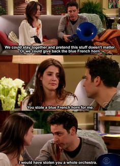 ♡ted and robin I don't even care how much I loved barney Ted And Robin, Barney And Robin, How Met Your Mother, Ted Mosby, Super Funny Quotes, Funny Memes, Tv Show Quotes, Book Quotes, Himym