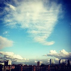 Summer evening sky in Shoreditch