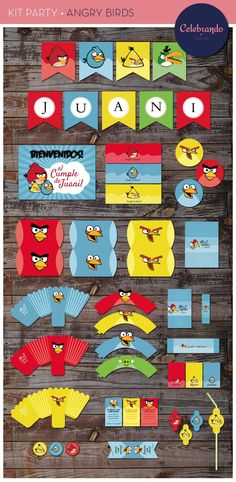 Kit imprimible de Angry Birds