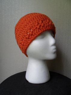 Kylie Hat in Carrot Orange  Beanie Beenie Cloche by LilacsLovables, $18.00