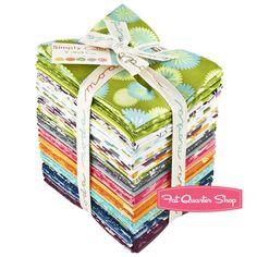Simply Color Fat Quarter Bundle V and Co. for Moda Fabrics - either boy or girl tones