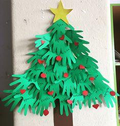 #school #crafts #hands #tree #christmas