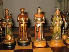 Belles pièces de jeu d'échecs