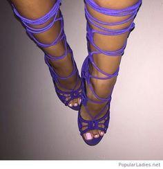 Cool purple sandals