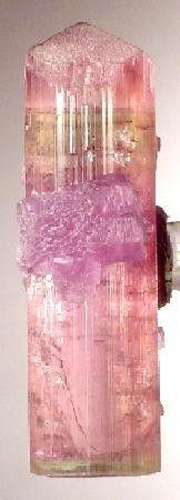 Elbaite from Himalaya Mine (Himalaya pegmatite; Himalaya dikes), Gem Hill, Mesa Grande District, San Diego Co., California, USA