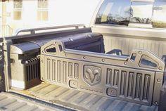 truck camping #pickup Dodge Ram 1500 Accessories, Cool Truck Accessories, Truck Accesories, Ram Accessories, Vehicle Accessories, Ram Trucks, Dodge Trucks, Jeep Pickup Truck, Truck Bed Storage