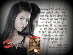 Promo with the book for Angel's story