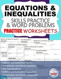 Inequalities homework