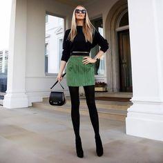 Photo @tati_vk #womanslook  замшевая юбка underwired suede mini skirt  замшевый пояс Suede belt  все #balmain