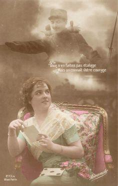 Vous n'en faites pas etalage mais l'on connait votre courage. - Carte postale 1ere guerre mondiale