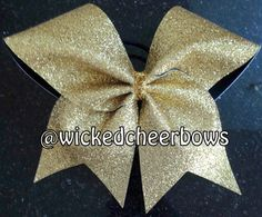 Hey, I found this really awesome Etsy listing at https://www.etsy.com/listing/160683161/cheer-bow-gold-glitter