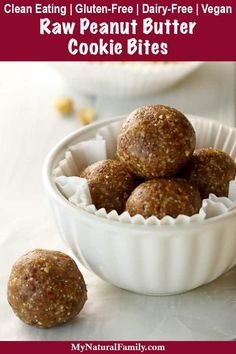 I love that the only ingredients in these healthy peanut butter balls are peanuts date and salt. They only take a few minutes to make and I love them for either breakfast a snack or a quick healthy dessert. Quick Healthy Desserts, Healthy Cookies, Healthy Baking, Healthy Snacks, Healthy Recipes, Snacks Recipes, Eating Healthy, Beef Recipes, Vegetarian Recipes