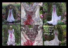 ZOMBIE Bride RESERVE for HANNAH Vampire Costume Bloody Bride Halloween Corpse Bride Tim Burton Wedding Zombie Bridal by SweetDarknessDesigns by SweetDarknessDesigns on Etsy