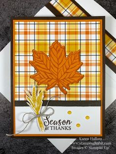 Thanksgiving Greeting Cards, Fall Cards, Holiday Cards, Handmade Thanksgiving Cards, Leaf Cards, Paper Cards, 3d Cards, Cards Diy, Stamping Up Cards