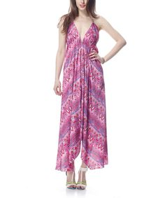 Take a look at this Raspberry Halter Maxi Dress on zulily today!