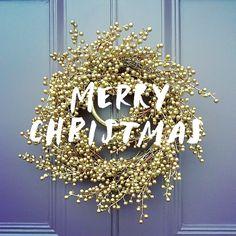 Merry Christmas, Gold Wreath