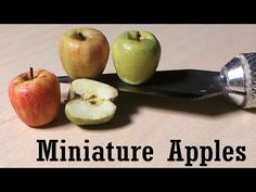Easy; Miniature Apple Polymer Clay Tutorial - YouTube