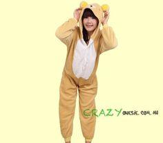 Amour - Sleepsuit Pajamas Costume Cosplay Homewear Lounge Wear (S, Cute Bear) Adult Pajamas, Animal Pajamas, Cosplay Costumes For Men, Cosplay Outfits, Cosplay Style, Rilakkuma, Red Hoodie, Sweater Hoodie, Anime Cosplay