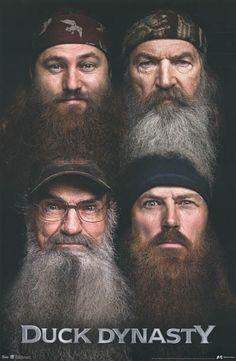Duck Dynasty The Robertson Boys Beards TV Show Poster 22x34